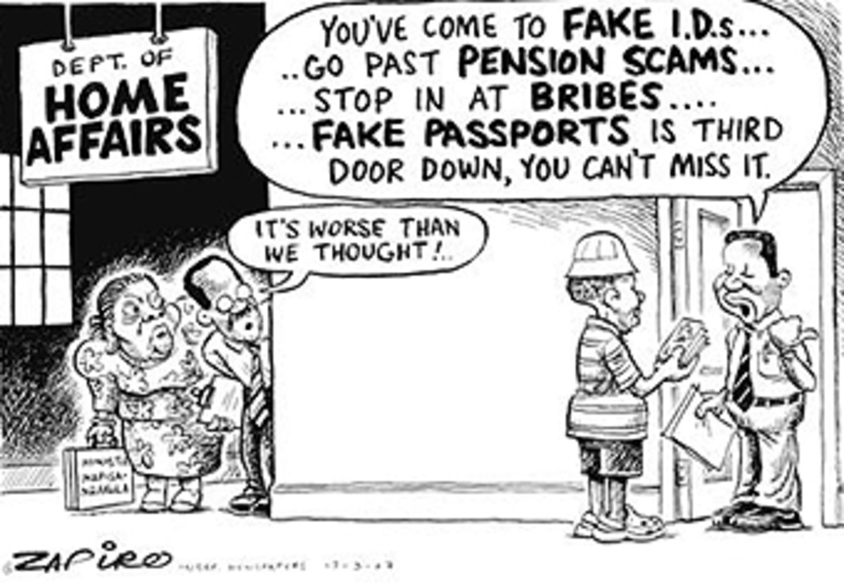 Welcome To wonderful Rainbow Nation of South Africa-Corrupition on Steroids
