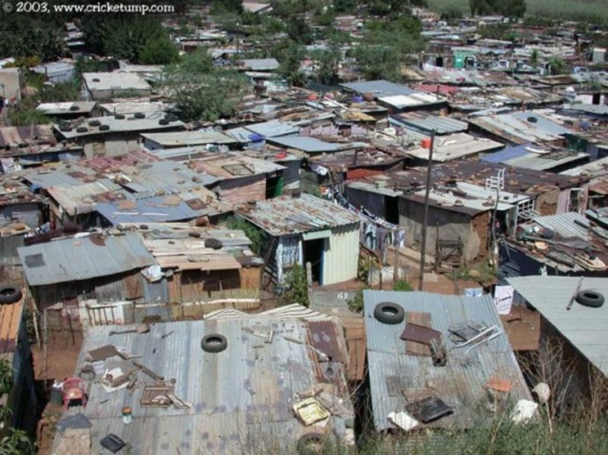 Kliptown Shantytown in Soweto *