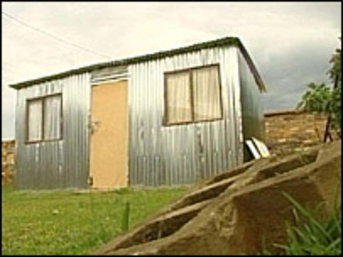 Many poor South Africans still live in Shacks, and these are the updated-type, but they are still shacks, made of corrugated iron