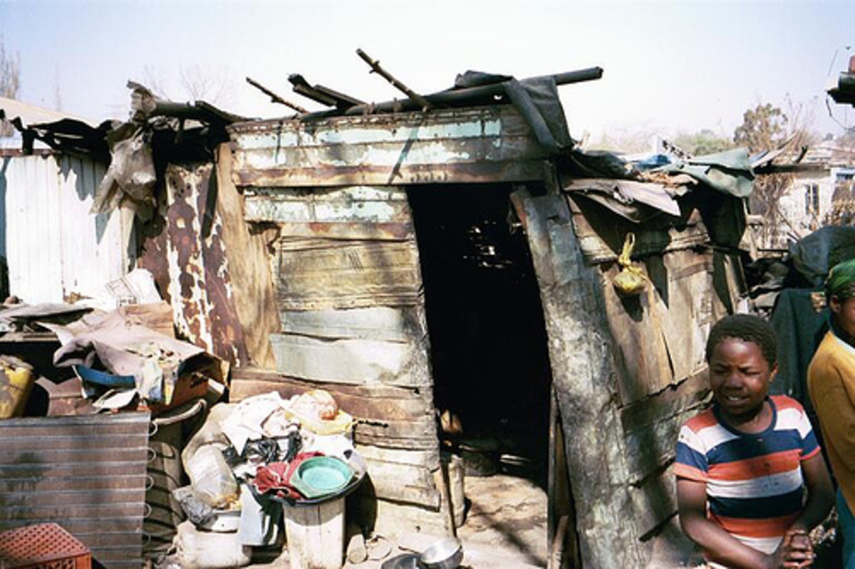 Some of the Shacks now one can find in South Africa, Soweto, Today