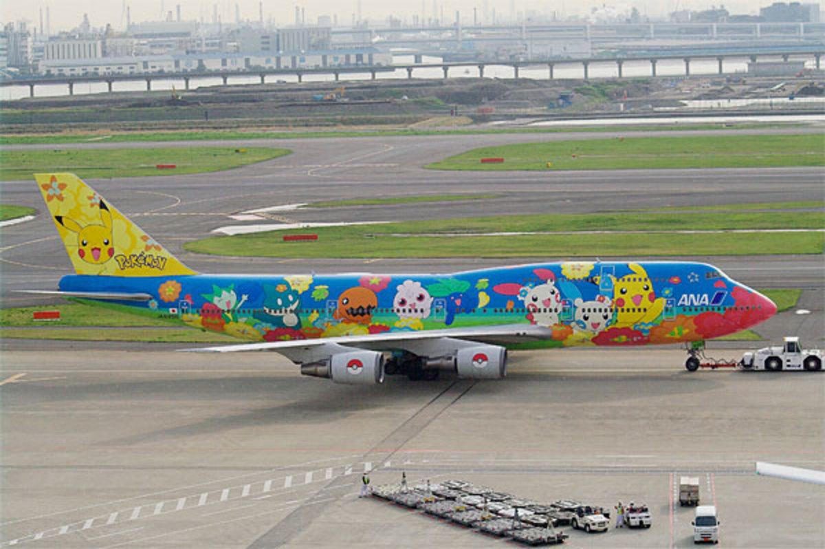 ANA cute Pokémon airplane.