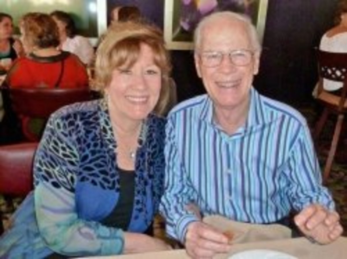 Esther and Jerry Hicks:  photo taken by a fan during an Abraham-Hicks workshop tour.