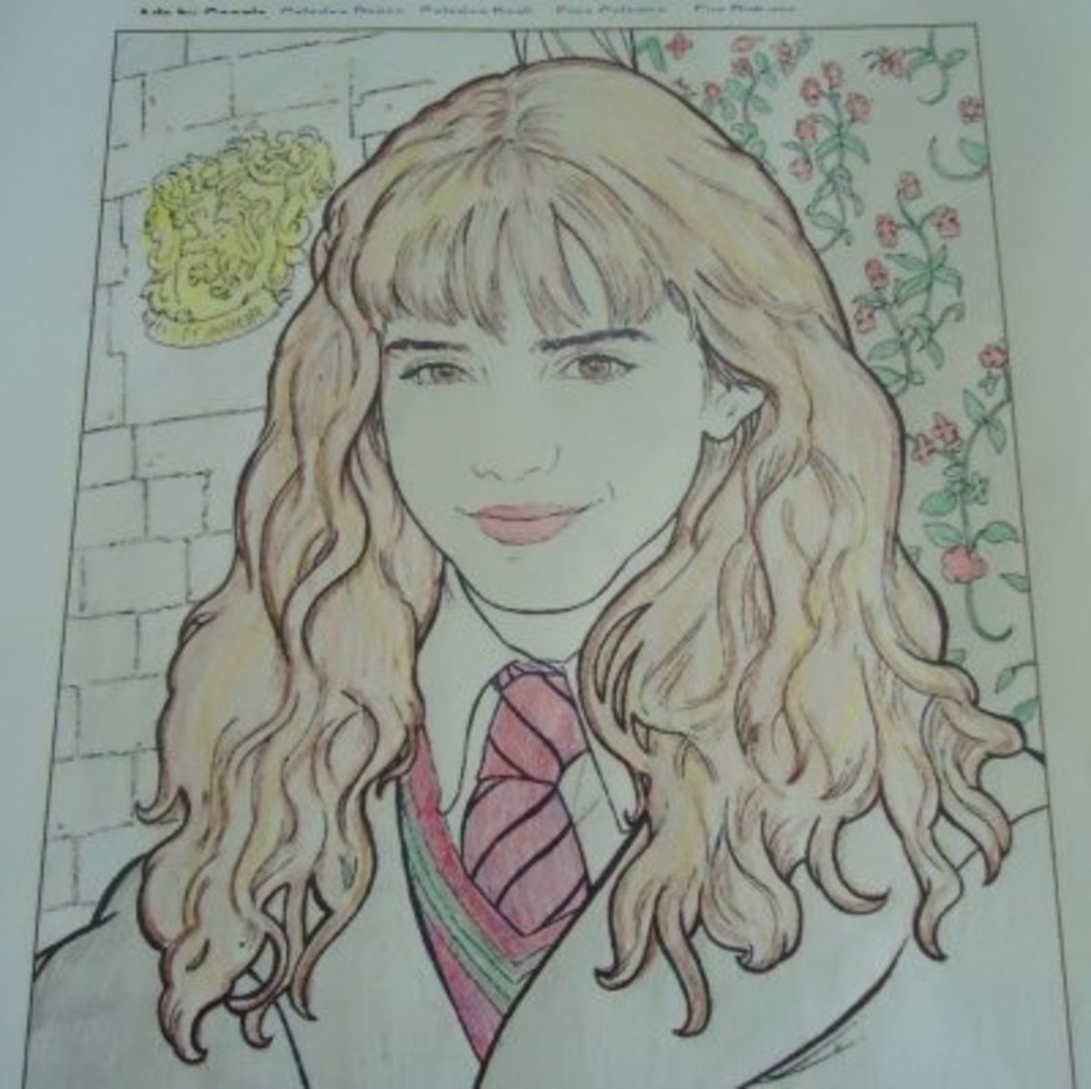 Hermione Granger free Coloring Sheet Page