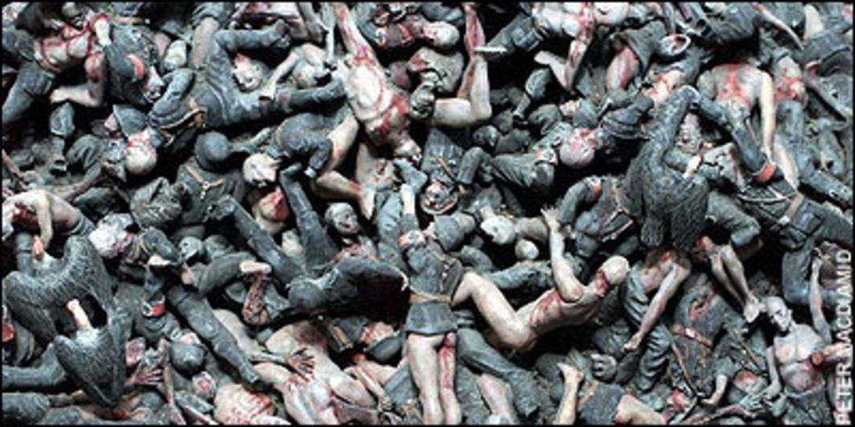 Bodies by the millions will be strewn all over the battlefield.