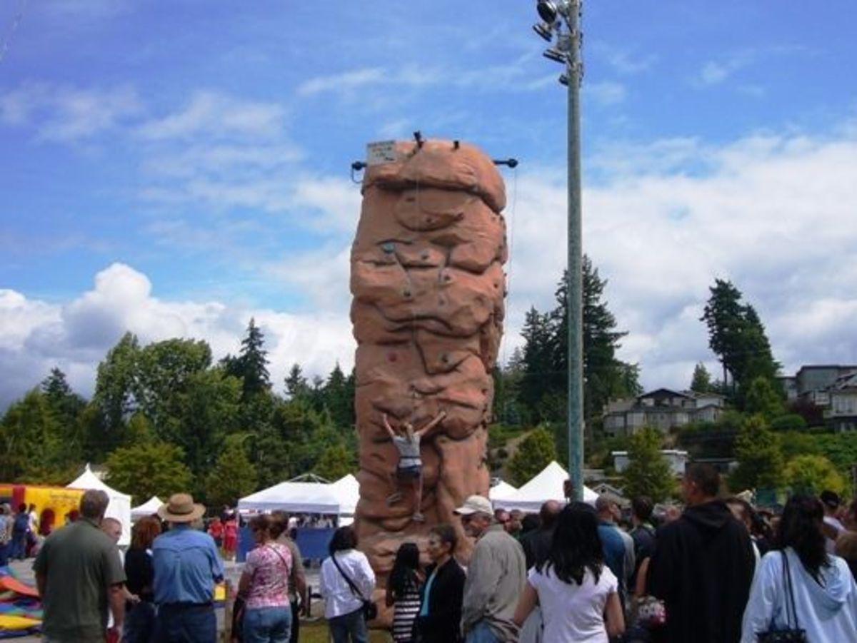 A climbing rock