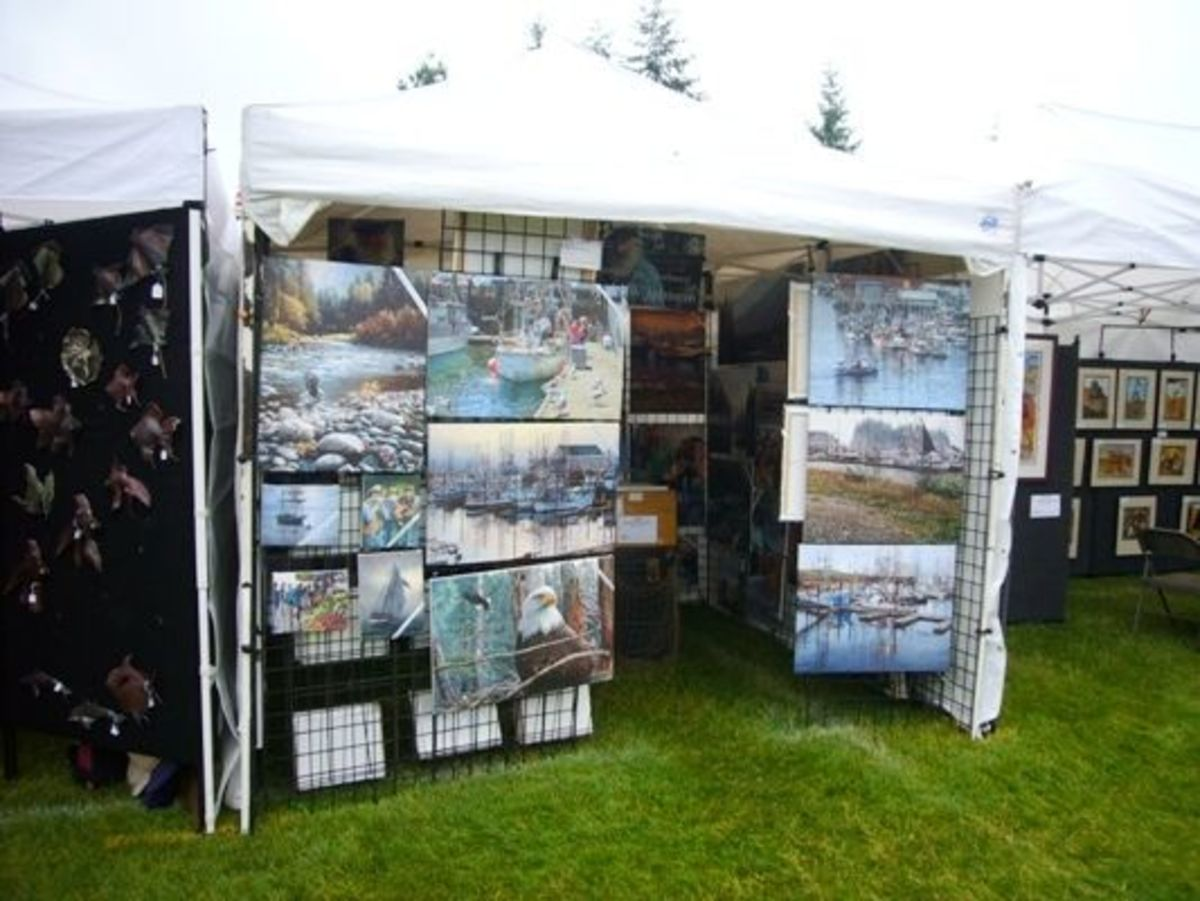 Paintings at the Edmonds Arts Festival 2011