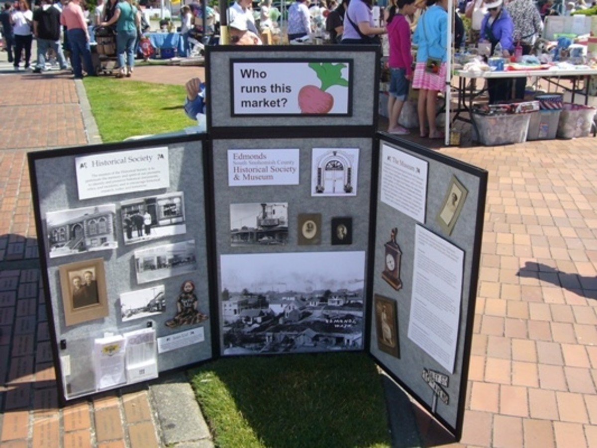 The Farmer's Market is sponsored by the Edmonds Historical Society.