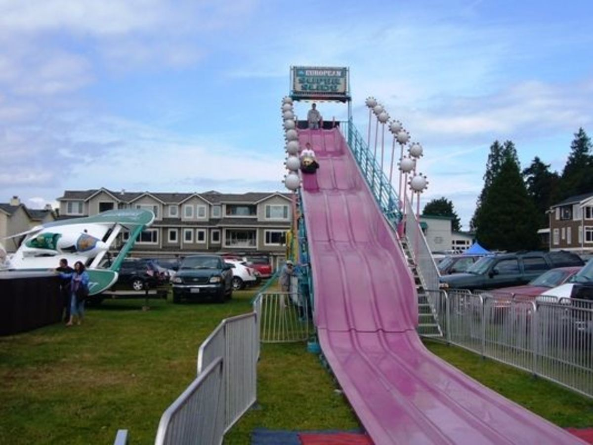 A slide for the kiddies