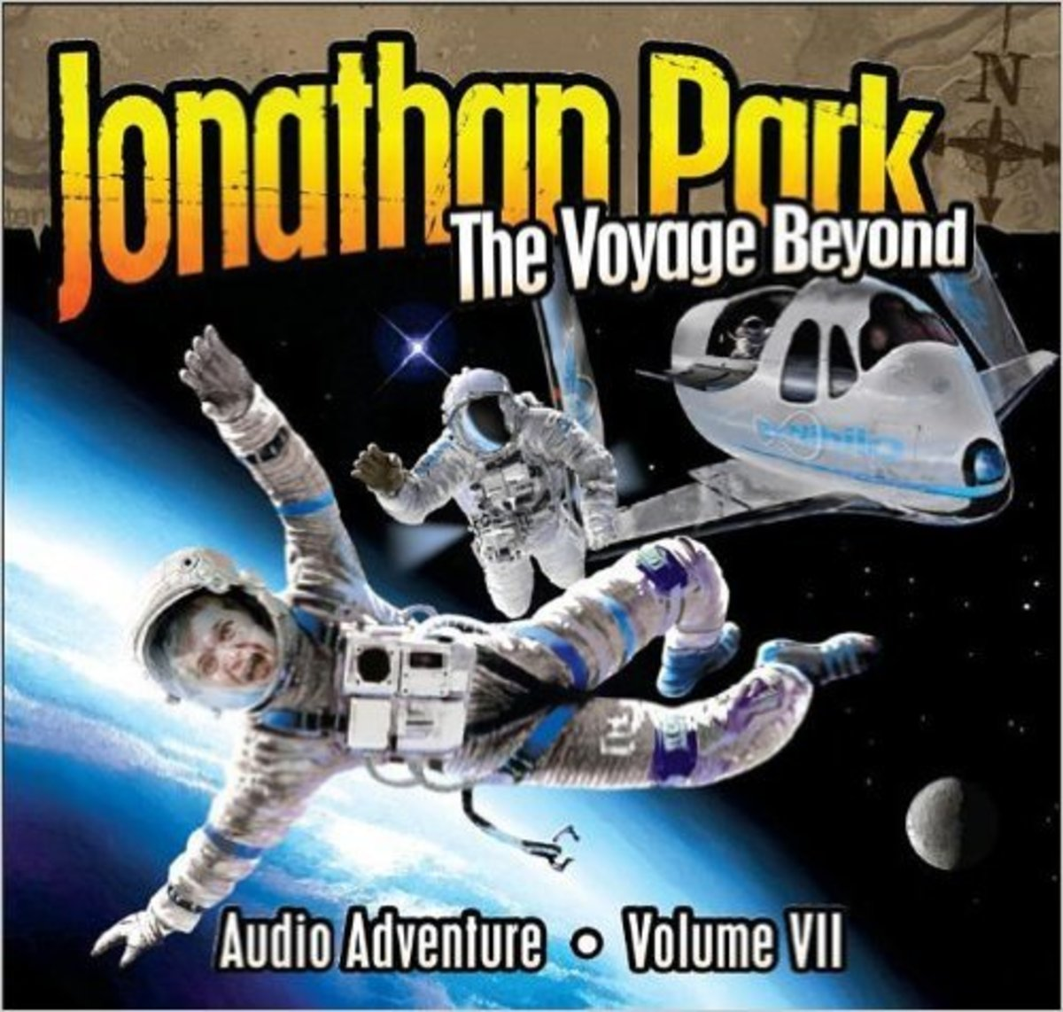 The Voyage Beyond (Jonathan Park Radio Drama) Audio CD by Pat Roy and Douglas W. Phillips - Image credit: amazon.com