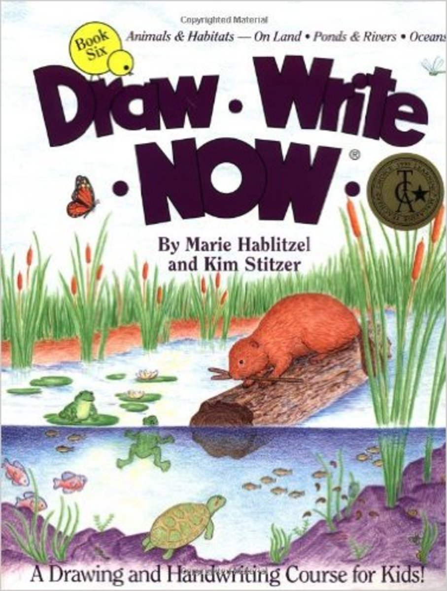 Draw Write Now, Book 6: Animals Habitats -- On Land, Pond & Rivers, Oceans (Draw-Write-Now) by Marie Hablitzel
