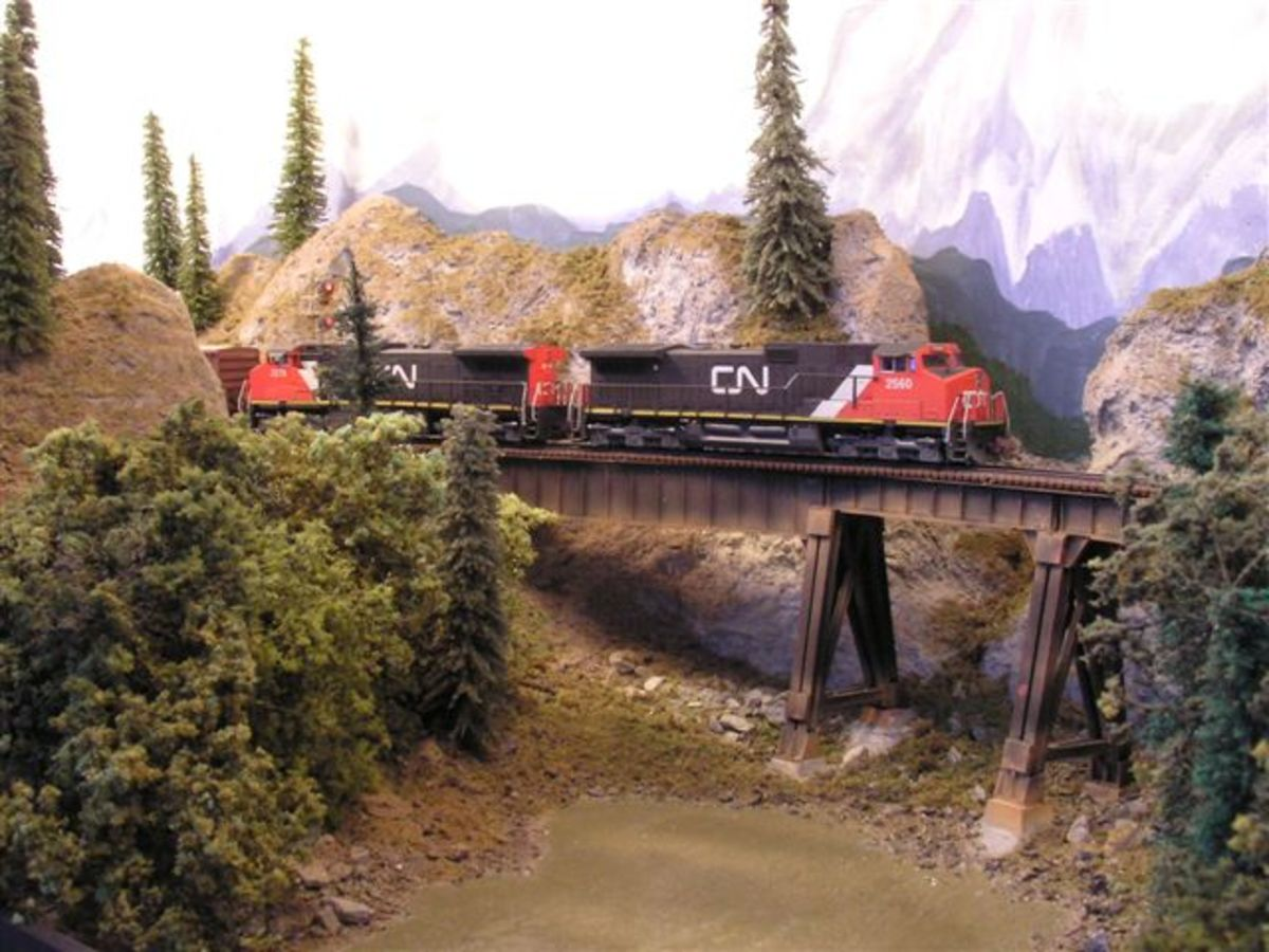 N-Scale Thompson River Canyon Layout