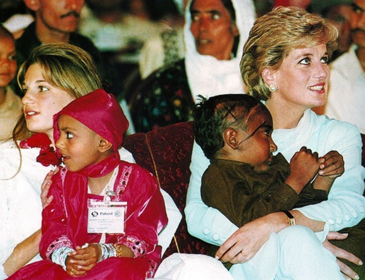 Princess Diana showing how natural love is for women.  But for men love it is not so easy.