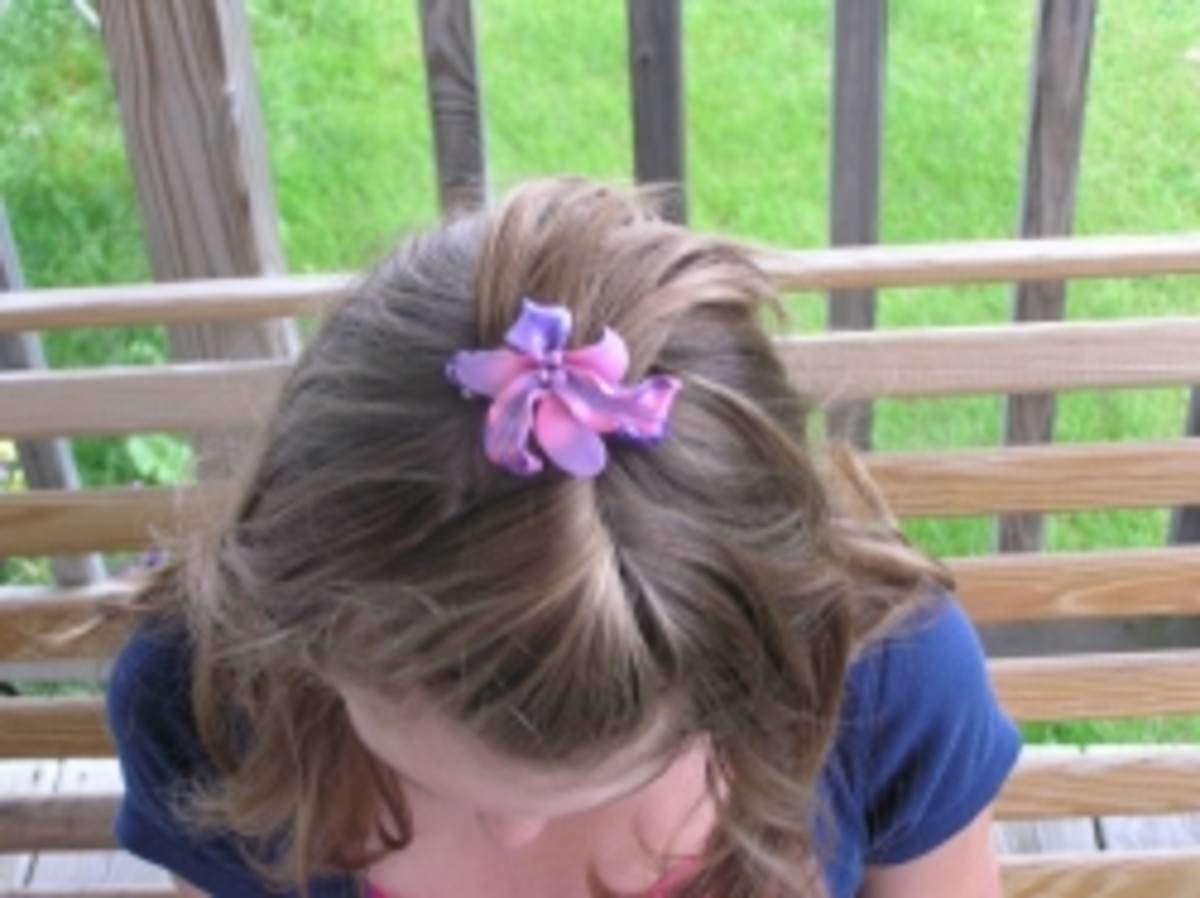 Jewelry for Kids - orchid barrette