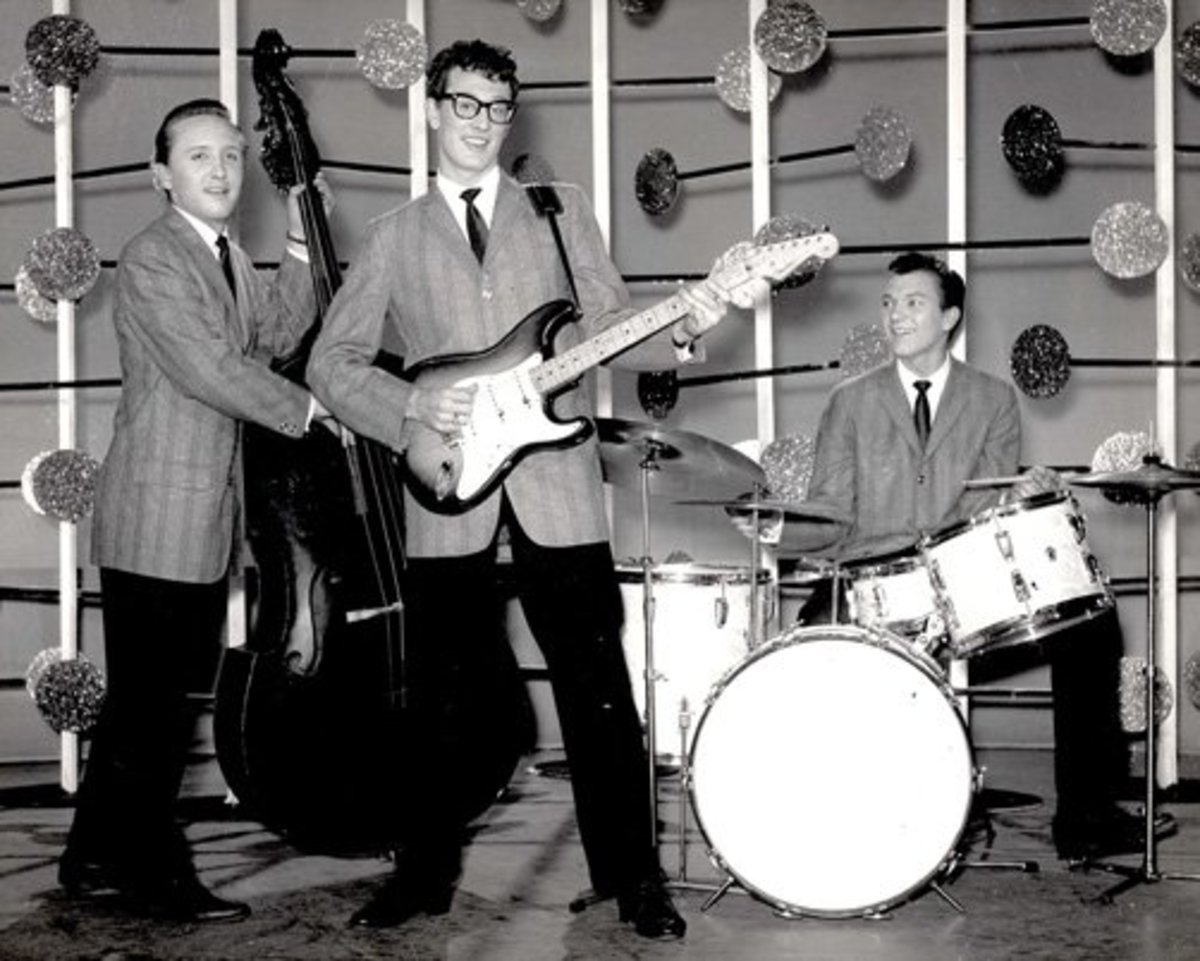 Buddy Holly and his band, The Crickets