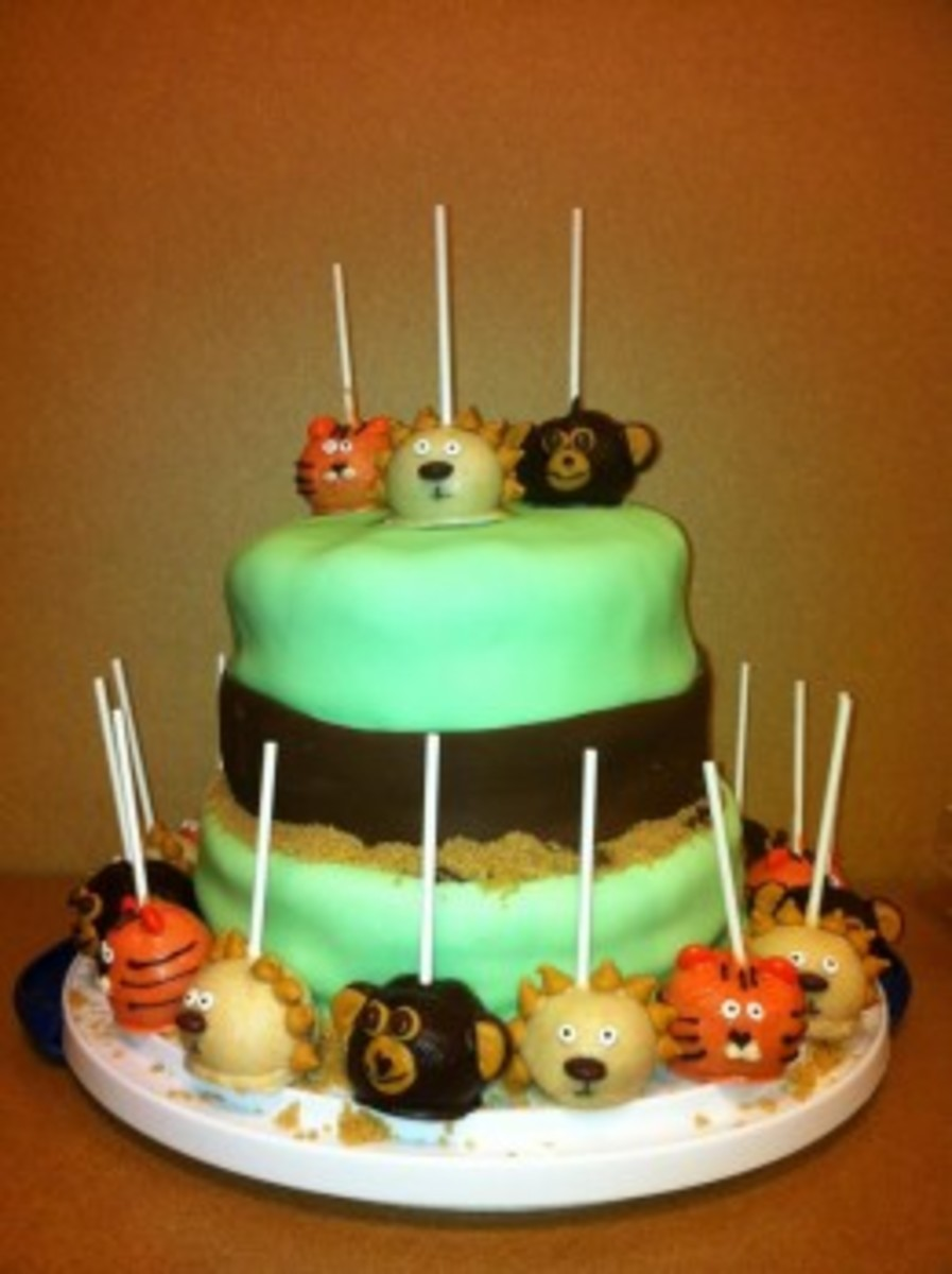 Small Business Ideas - Cake Pops Tiger and Monkey