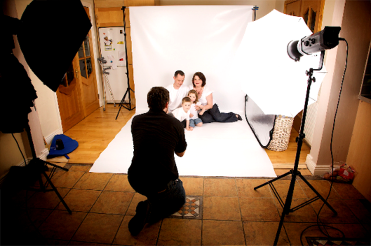 Family studio photograph