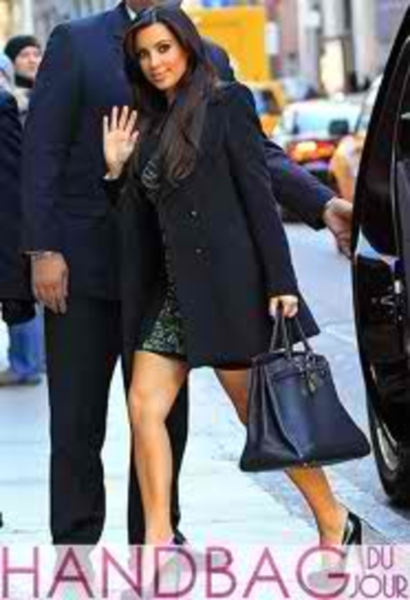 Kim Kardashian and The Hermes Birkin Bag In Black