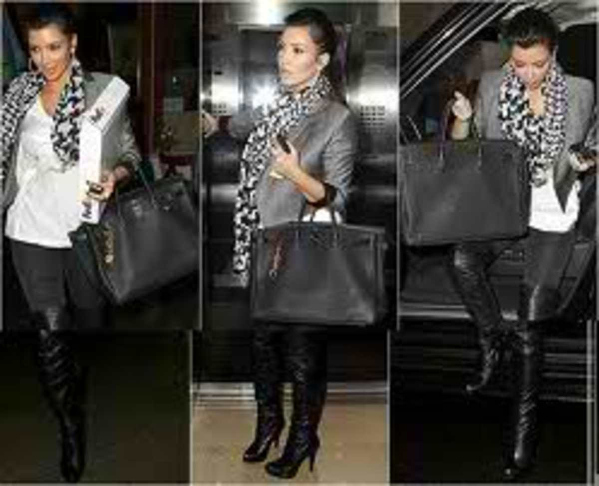 Here's another pic of kim and her fabulous black birkin.