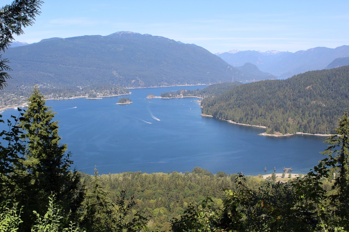 Burrard Inlet viewed from Burnaby Mountain Park