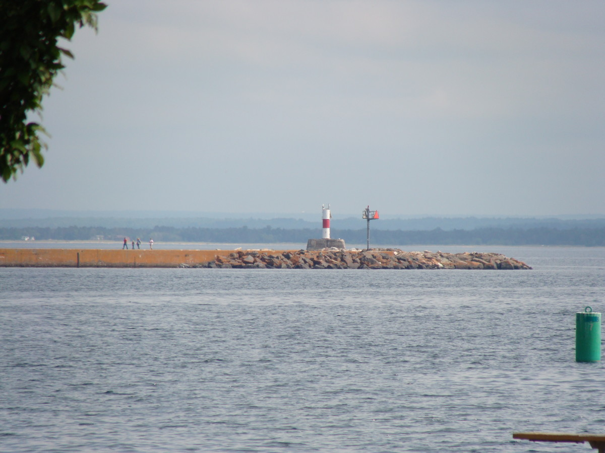 Lighthouse in Presque Isle Park.
