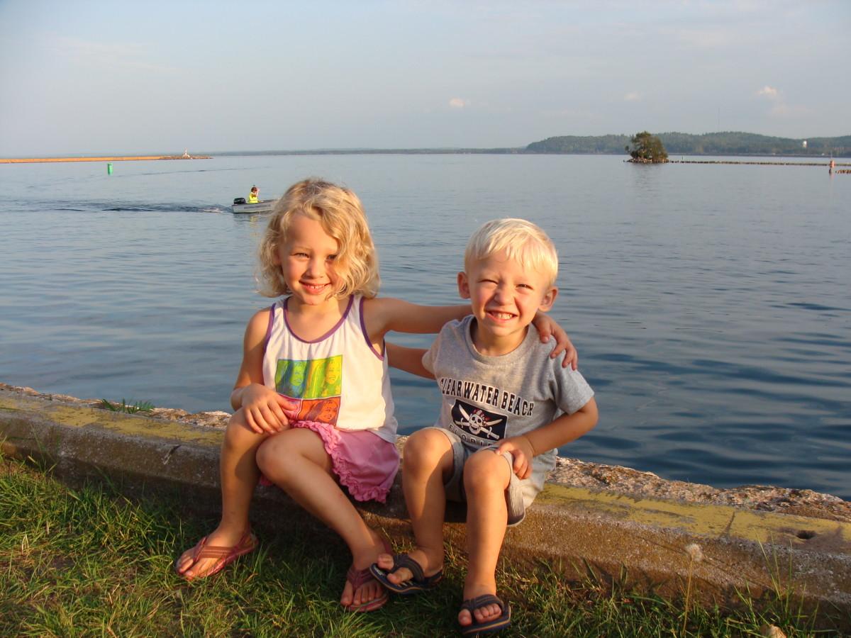 On the shores of Lake Superior at Presque Isle in Marquette, Michigan.