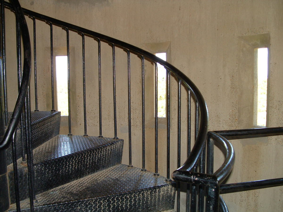Winding Stairs Inside the Observation Tower