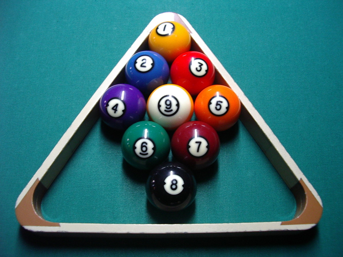 Photo 3 Racking the balls for 9-ball, in numerical order.