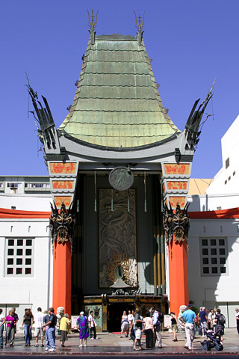 Probably one of the most well known theatres in the world - Grauman's Chinese Theatre, Hollywood, California