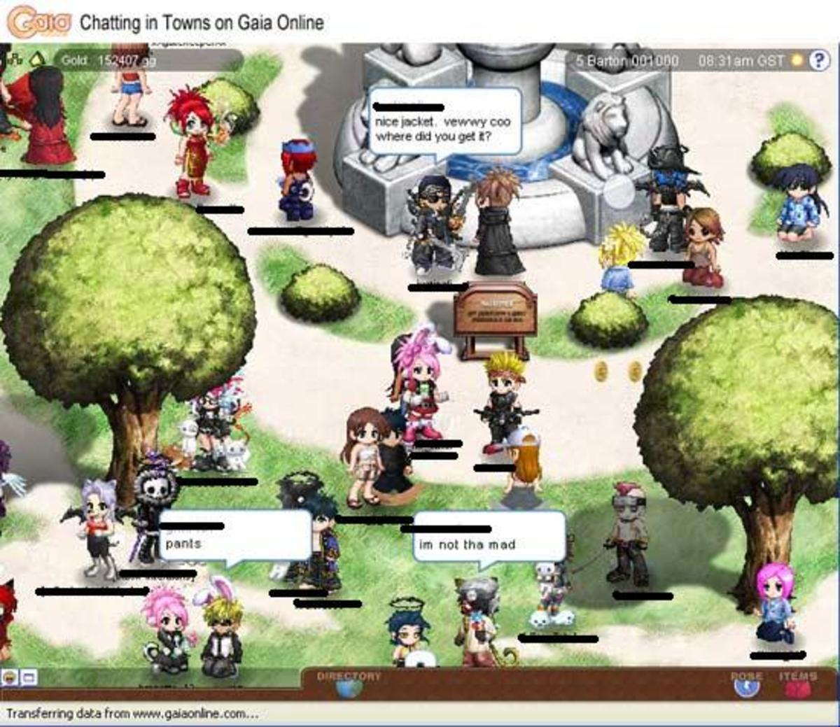 Similar to IMVU you can visit towns and rooms and chat with people!