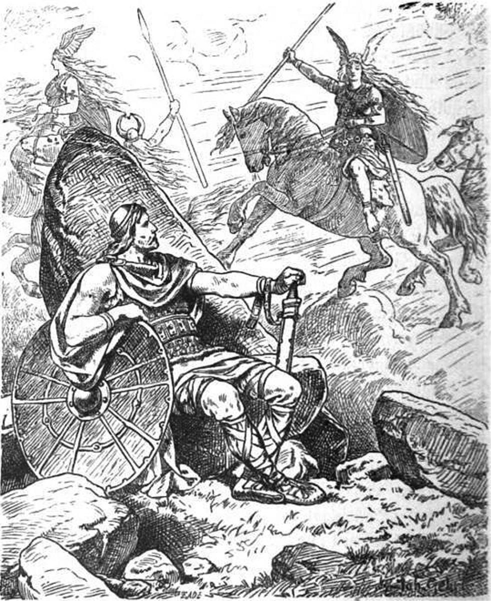"""""""Helgi und Sigrun"""" (1901) by Johannes Gehrts."""