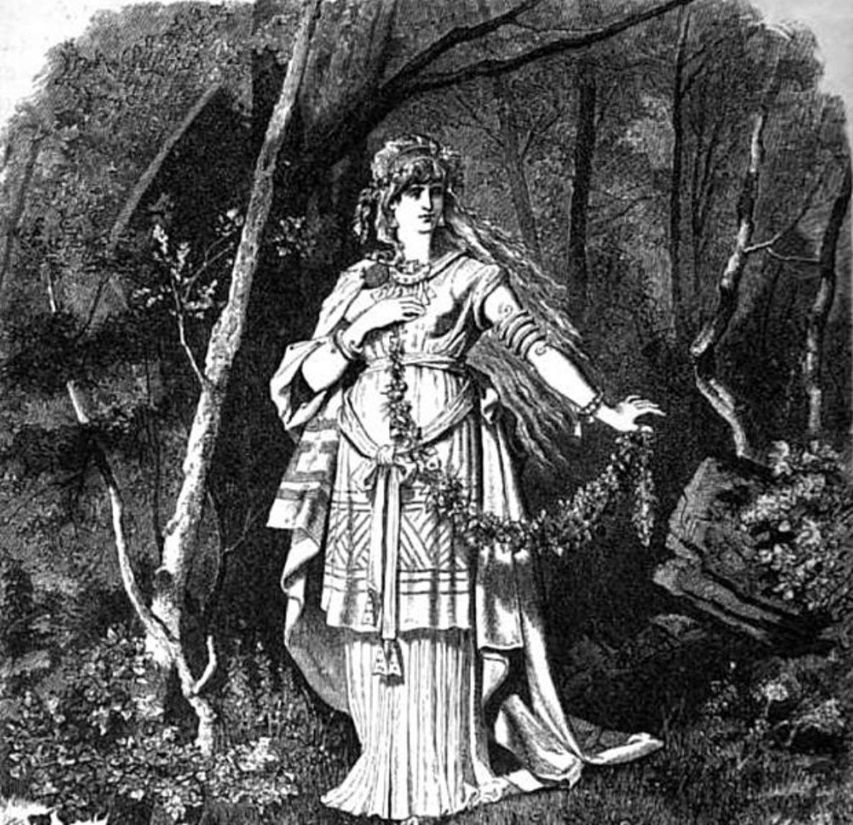 Freyja in the Woods, by Emil Doepler c. 1882