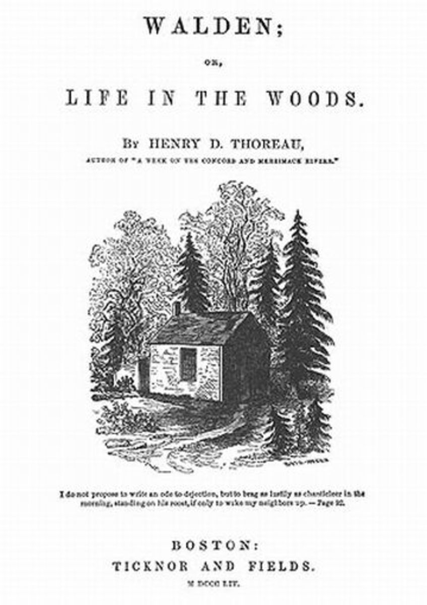 Thoreau at Walden - Independence, spiritual discovery, self reliance.