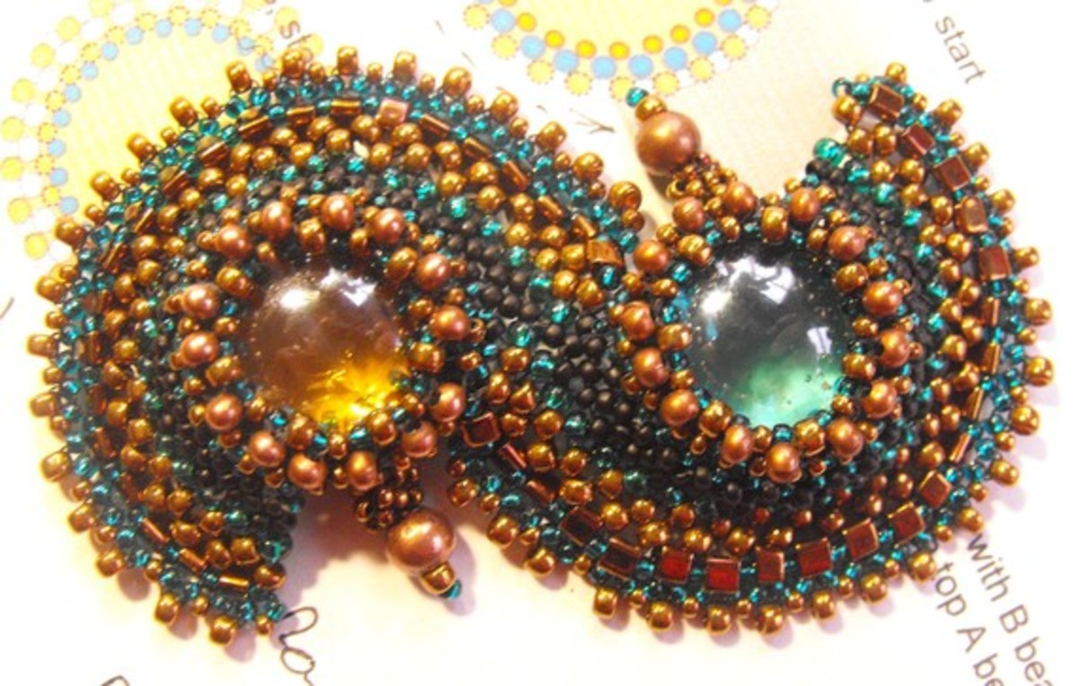 Bracelet - Wish Makers Path This stunning bracelet combines peyote and right angle weave.
