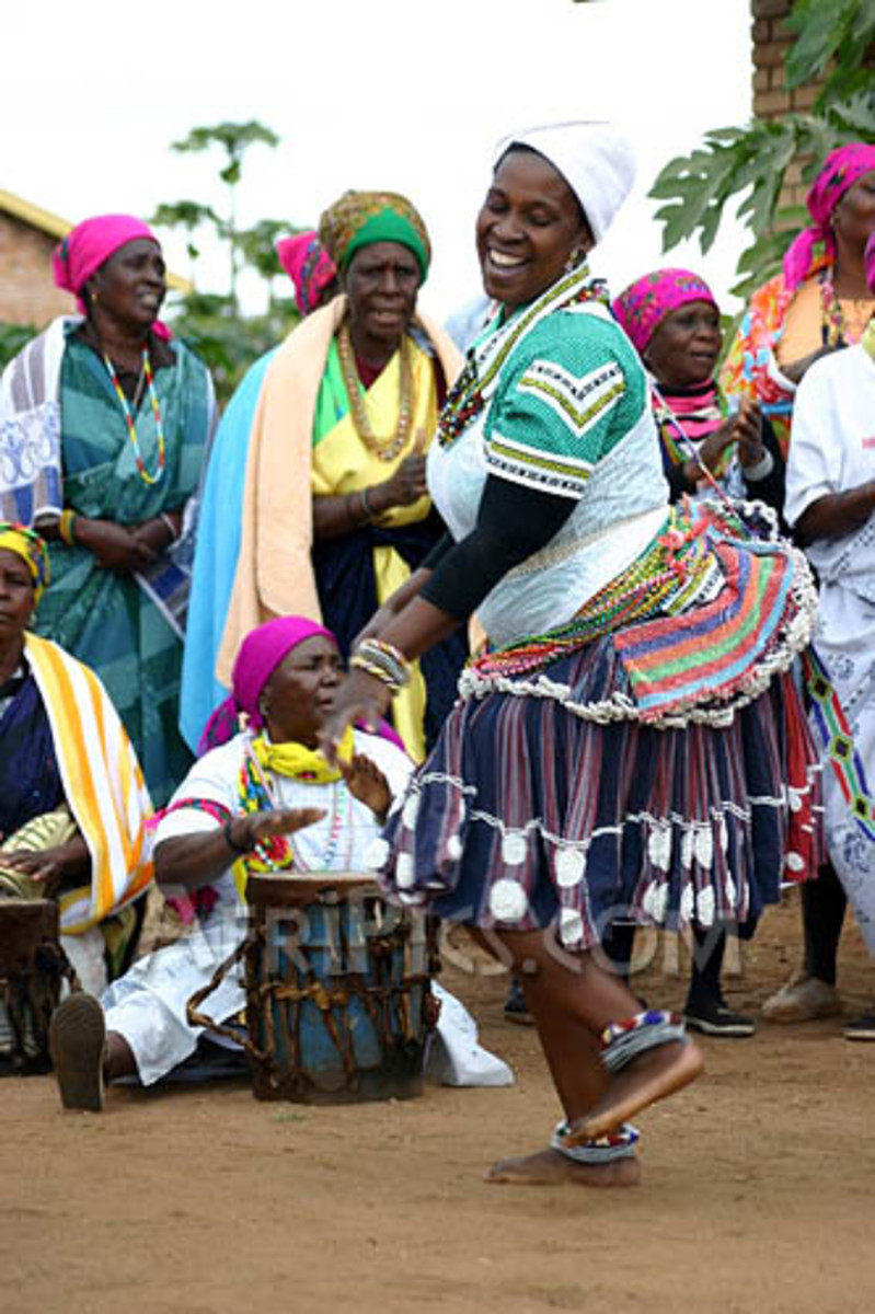 Shagaan woman dancing