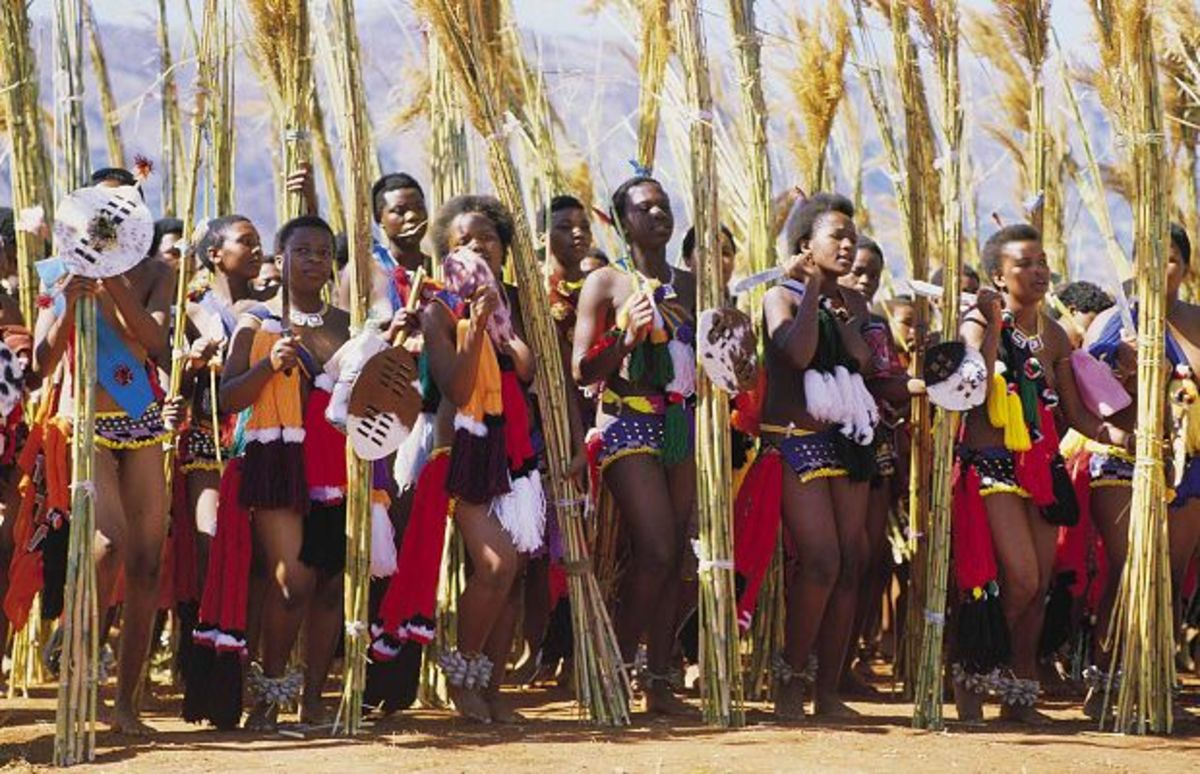 SSwazi girls at the Reed dance