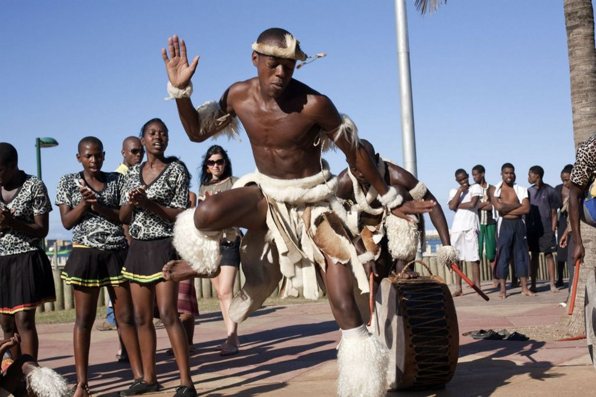 Zulu Man Dancing