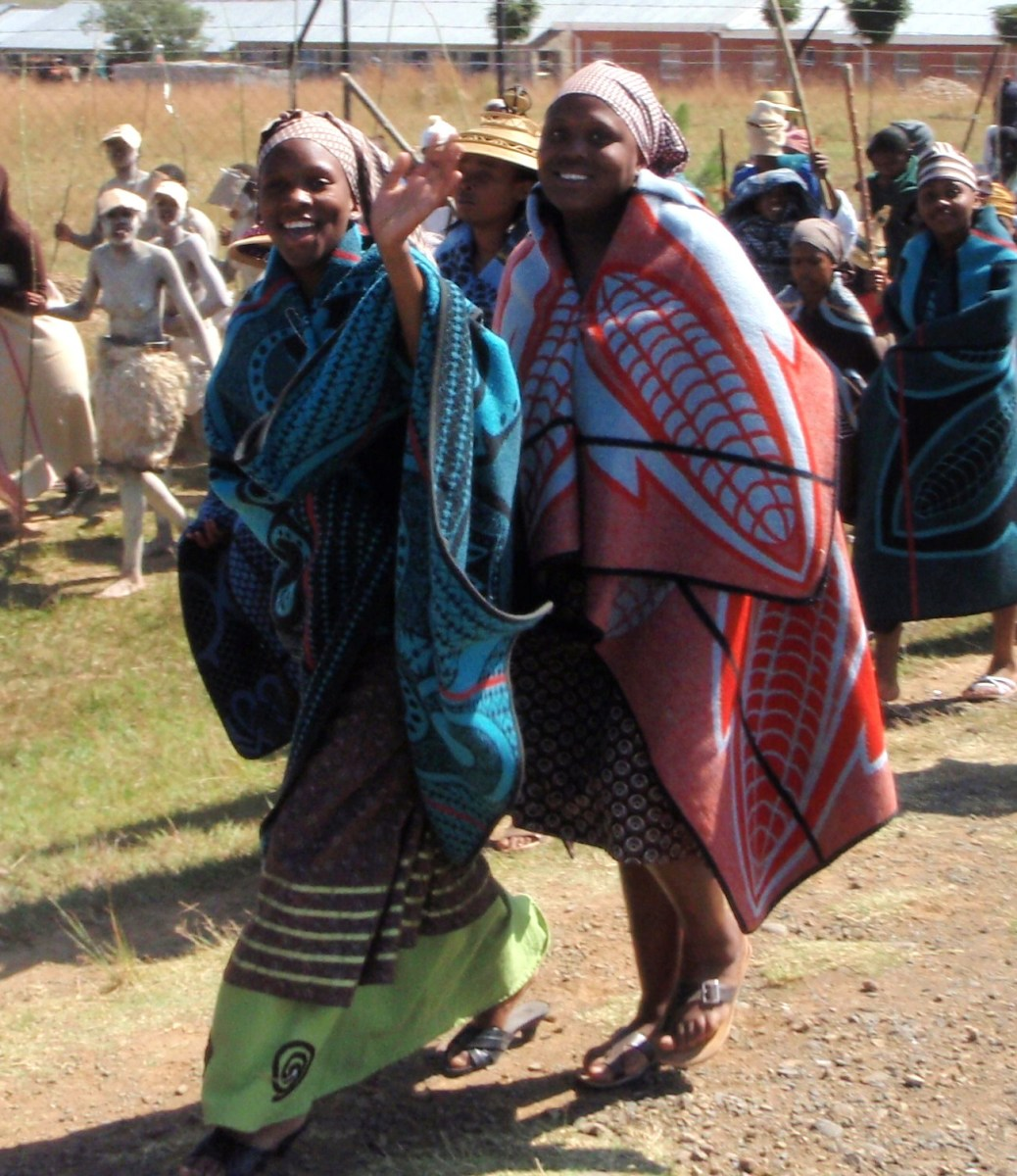 Basotho Women at their parade