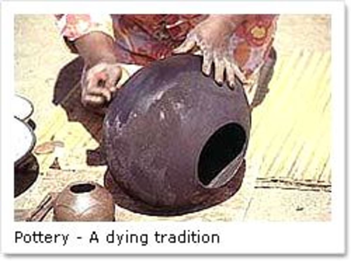Batswana people's pottery-making and is a dying tradition, today