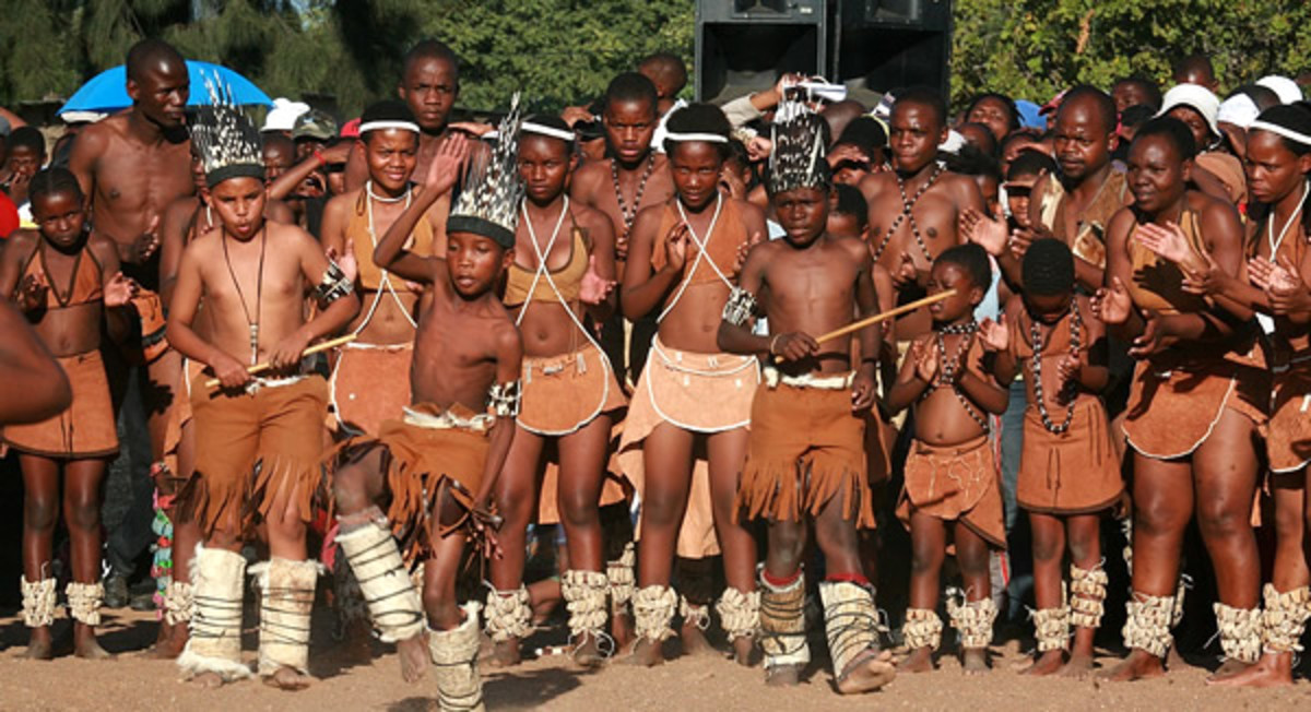 Tswana Children Dancing