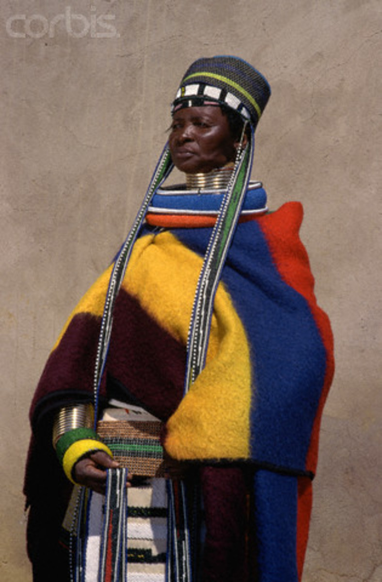 Ndebele Woman in Tradiitonal dress