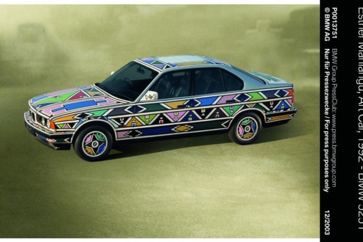 BMW 525i Art Car by the Ndebele
