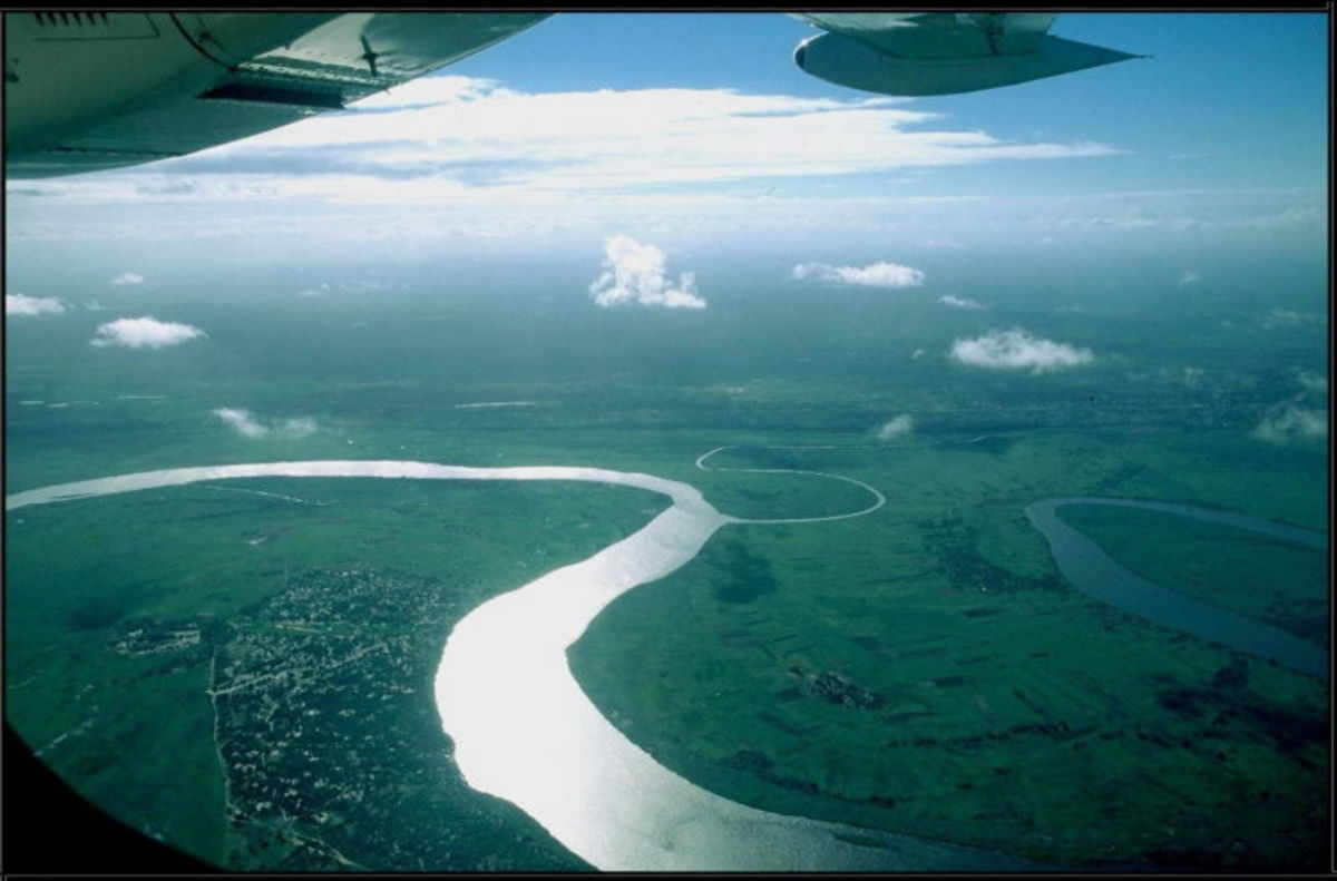 Aerial view of the Limpopo River
