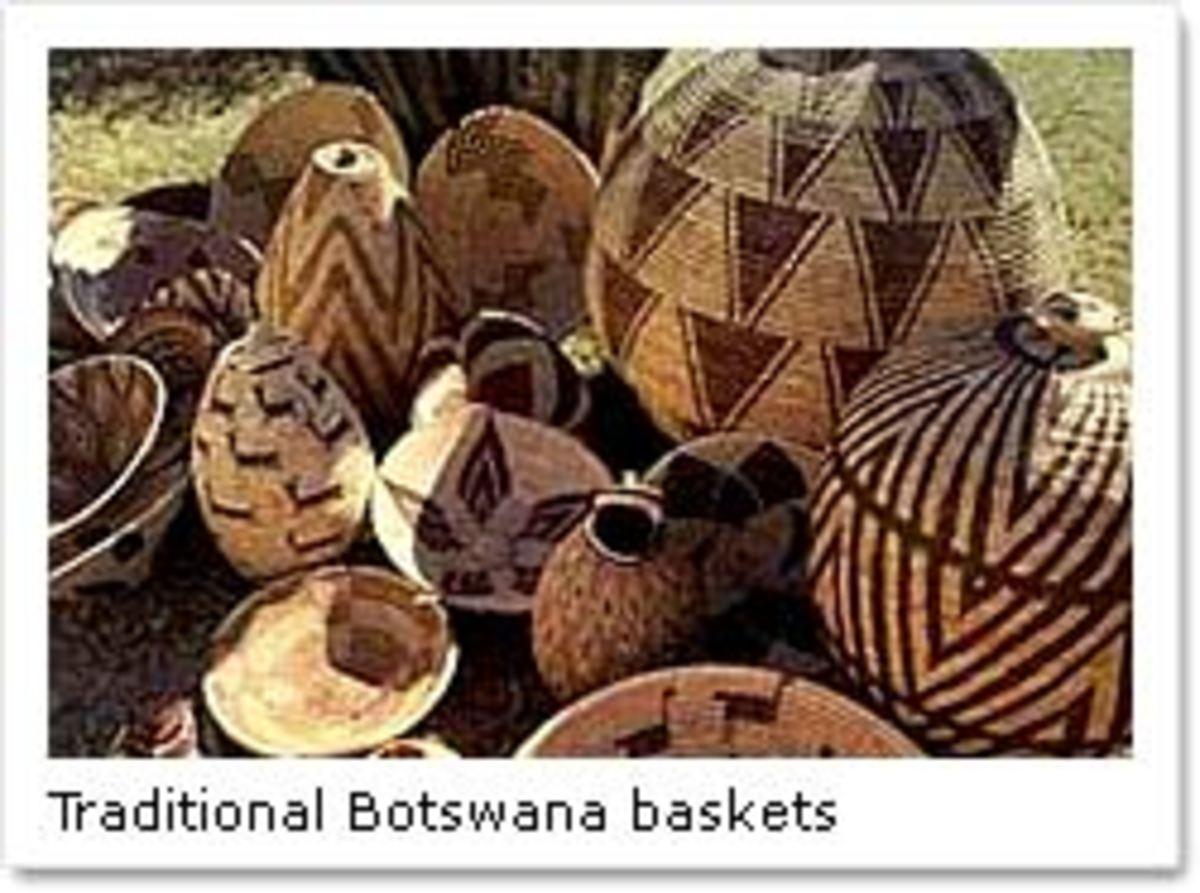 Traditonal Botswana gbaskets