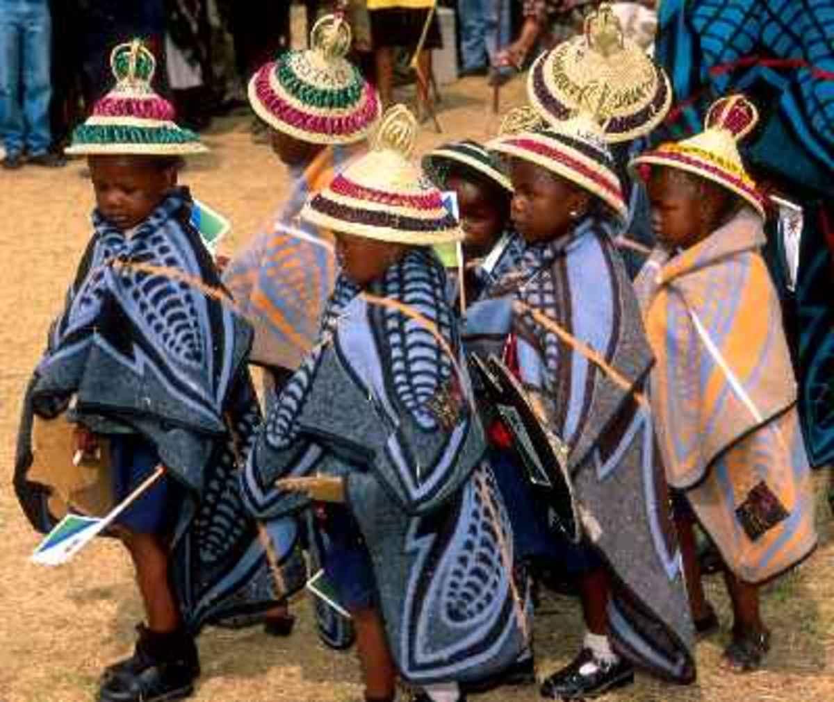 Basotho Children in Blankets