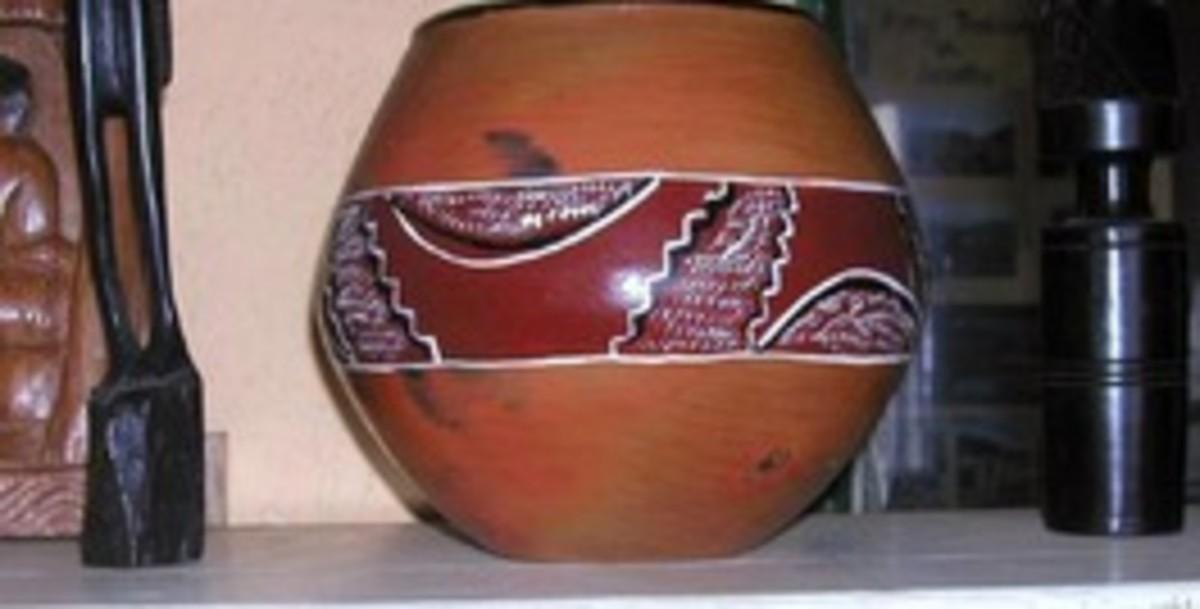 A Basotho gourd or Pot