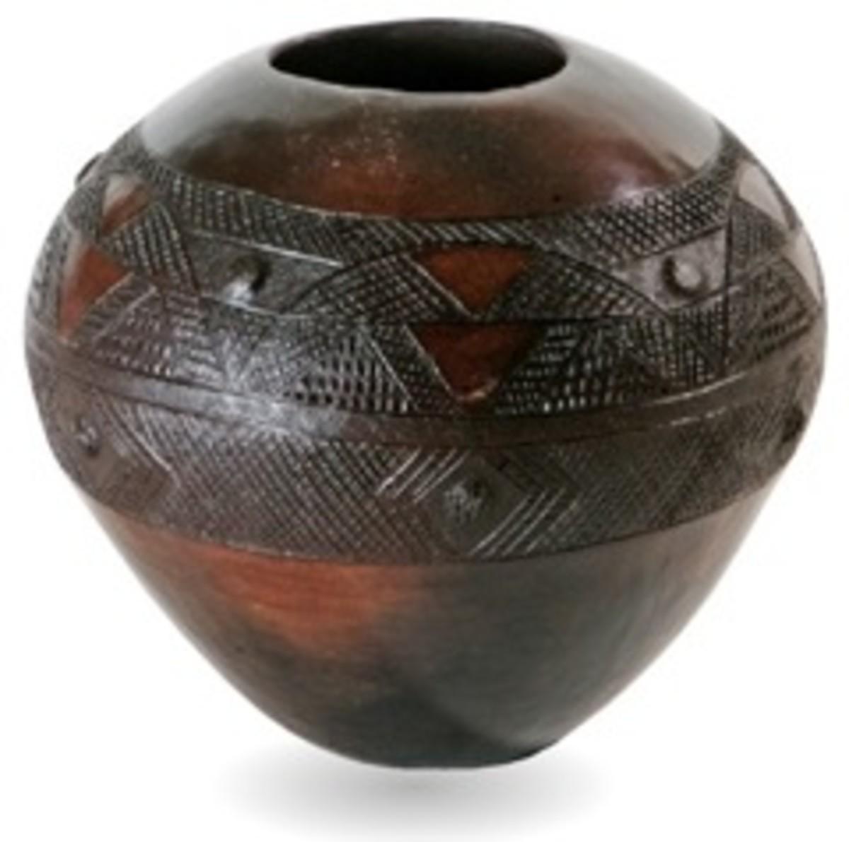Zulu gourd/ceramics