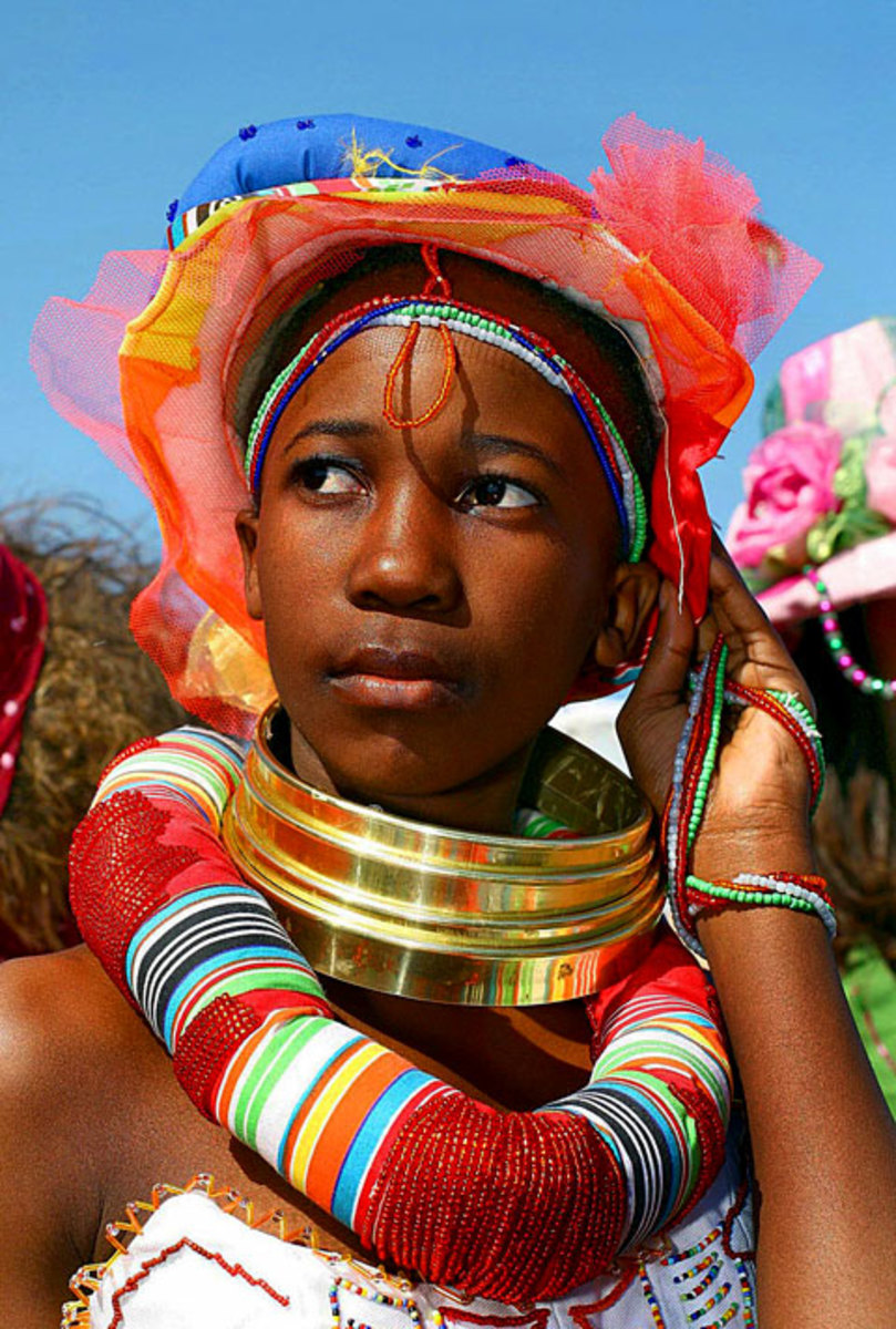 Ndebele Girl In traditional Dress