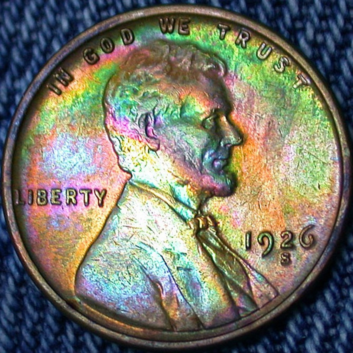 1926S Lincoln Penny Toned. Photo Courtesy: coinpage.com