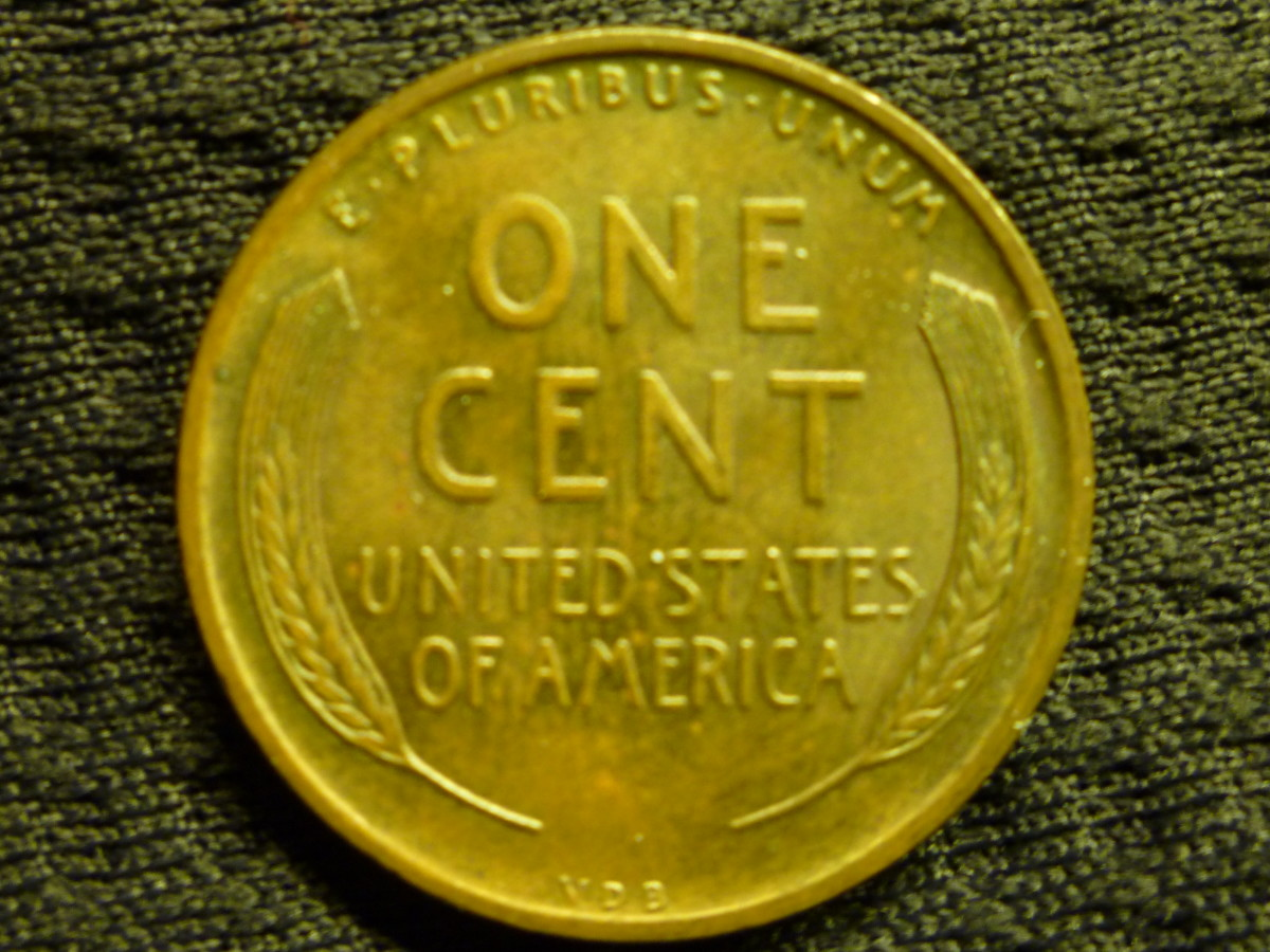 Although the pictured coin is just a 1909VDB, the infamous 1909S VDB will also have the initials at the bottom as shown.