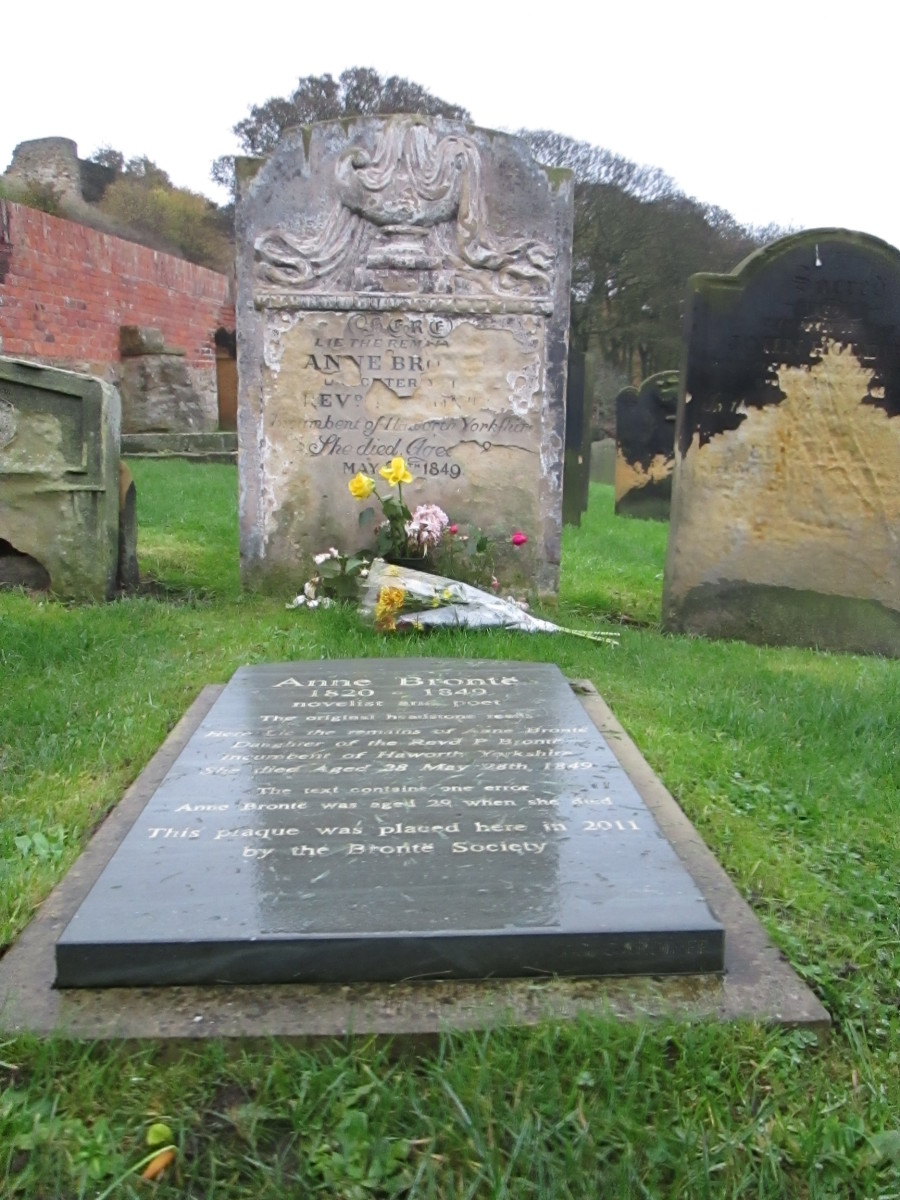 The Bronte Society takes care of Anne Bronte's grave here, close to St Mary's church near the castle gate. She came here from Haworth to take the cure... too late.